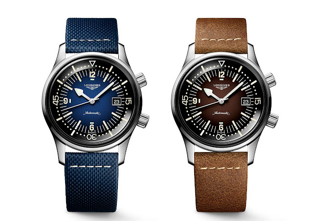 Longines Legend Diver with Blue or Brown gradated dial