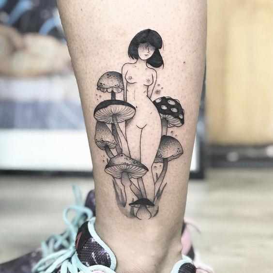 8 Enchanting Mushroom Tattoos
