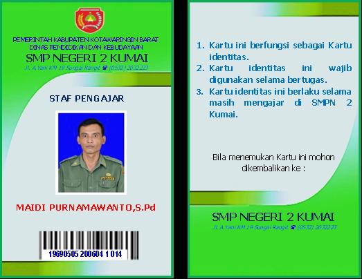 Selamat Datang Di Smpn 2 Kumai Blog Contoh Id Card