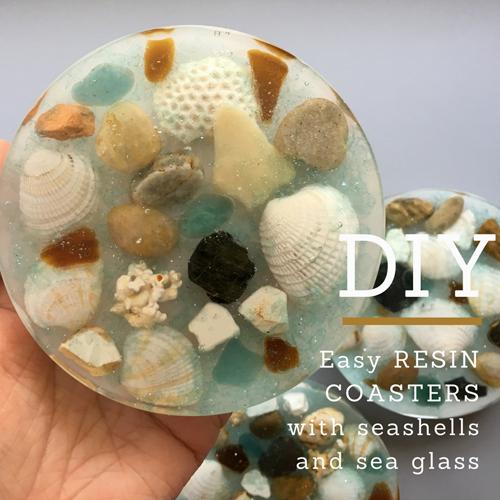 Clear Quartz Heart w Sea Glass