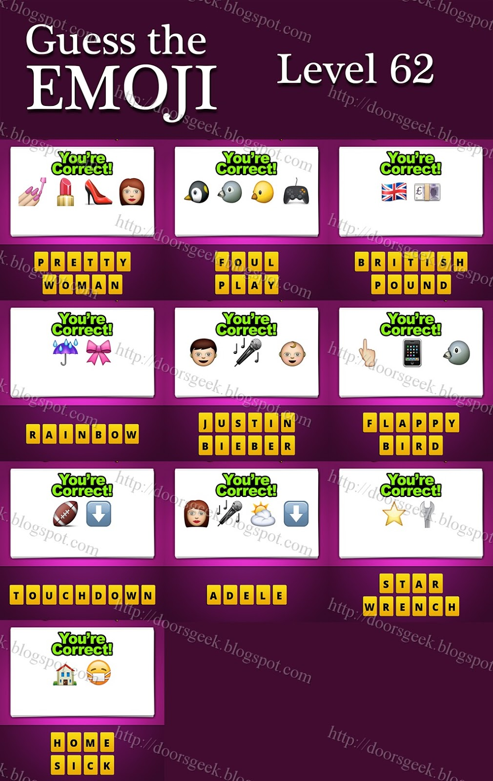 Guess The Emoji  Level 62  Answers and CheatsGuess The Emoji Pin And Boy