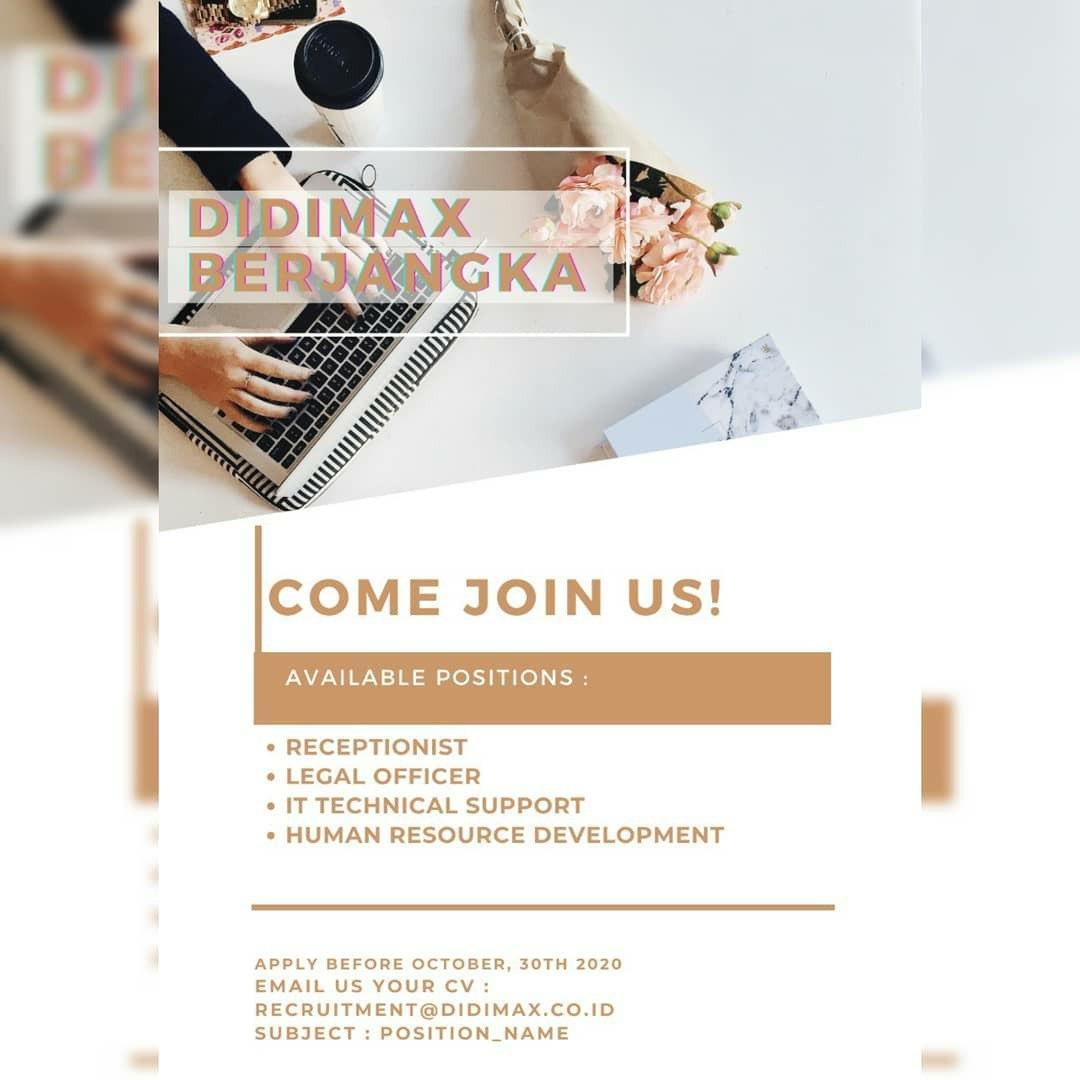 Lowongan Kerja PT. Didimax Bandung Oktober 2020