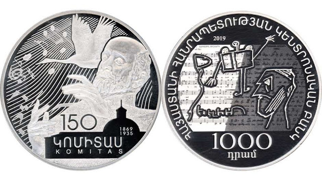 Emiten moneda homenaje a Komitas
