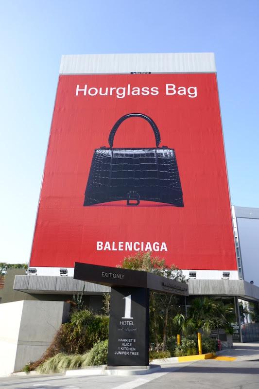 Giant Balenciaga Hourglass bag S20 billboard