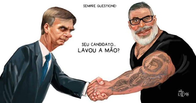 Alexandre Frota mete o pau em Bolsonaro e pode deixar PSL. Ué?! Mas meter o pau não é a especialidade dele? Tão reclamando do quê?