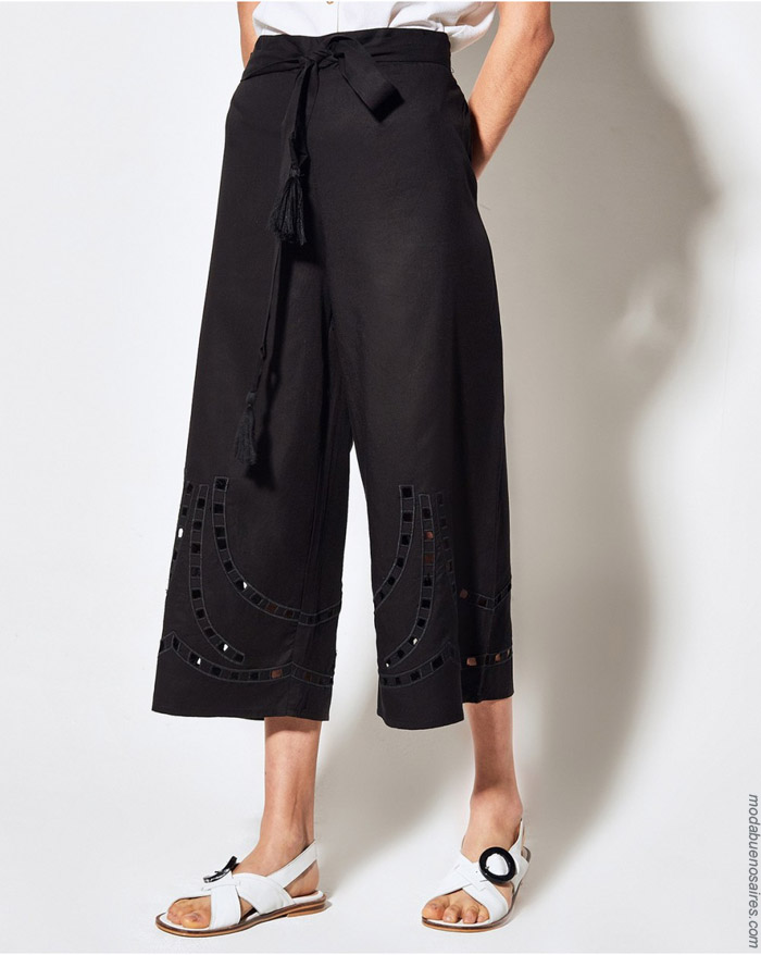 Pantalones capris de moda primavera verano 2020 moda mujer.