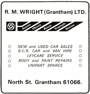 R M Right (Grantham) Ltd 1981 advert