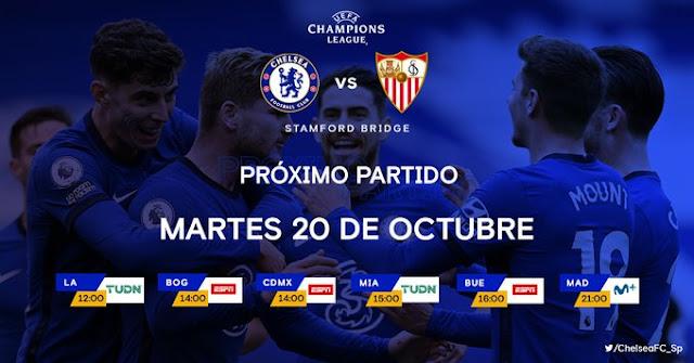 Dónde ver el Chelsea-Sevilla