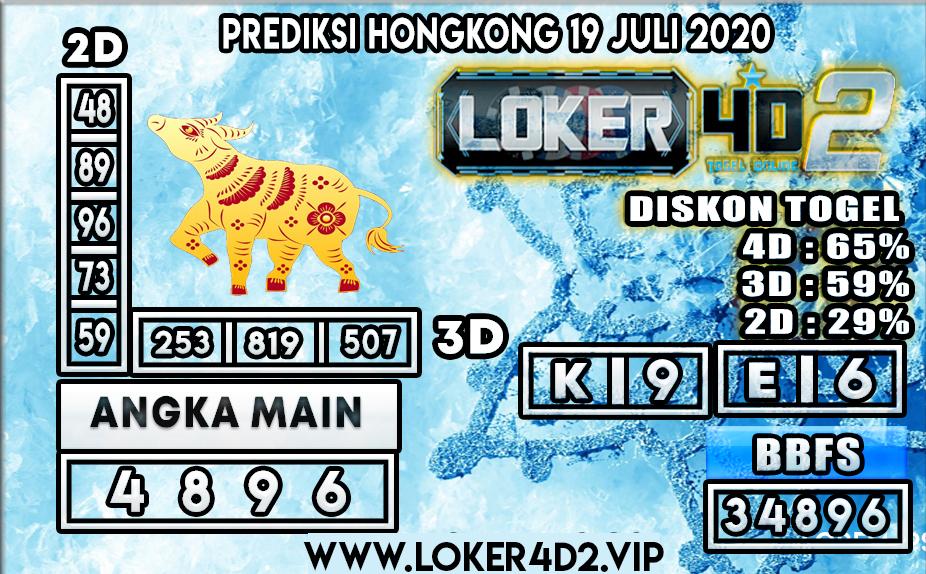 PREDIKSI TOGEL LOKER4D2  HONGKONG 19 JULI 2020