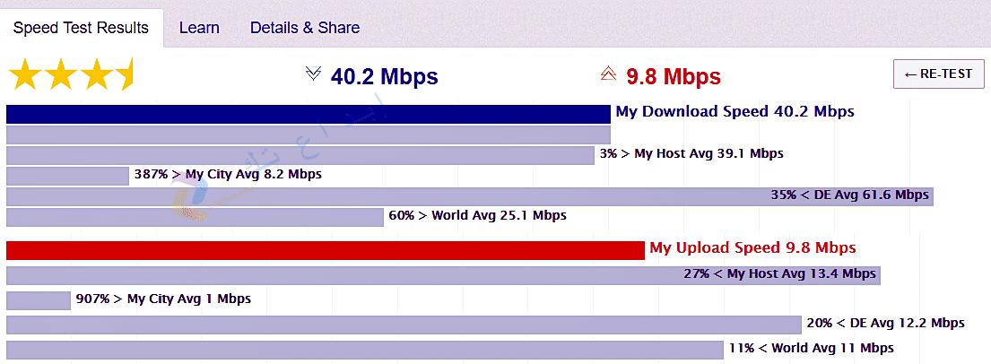 موقع Test my net