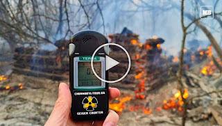 Огромен пожар край Чернобил повиши 16 пъти над допустимото радиацията (ВИДЕО)
