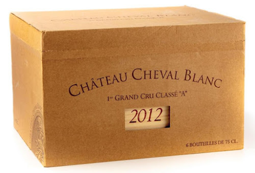Chateau Cheval Blanc 2012 Carton Box atop the Original Wooden Case ©LeDomduVin 2020