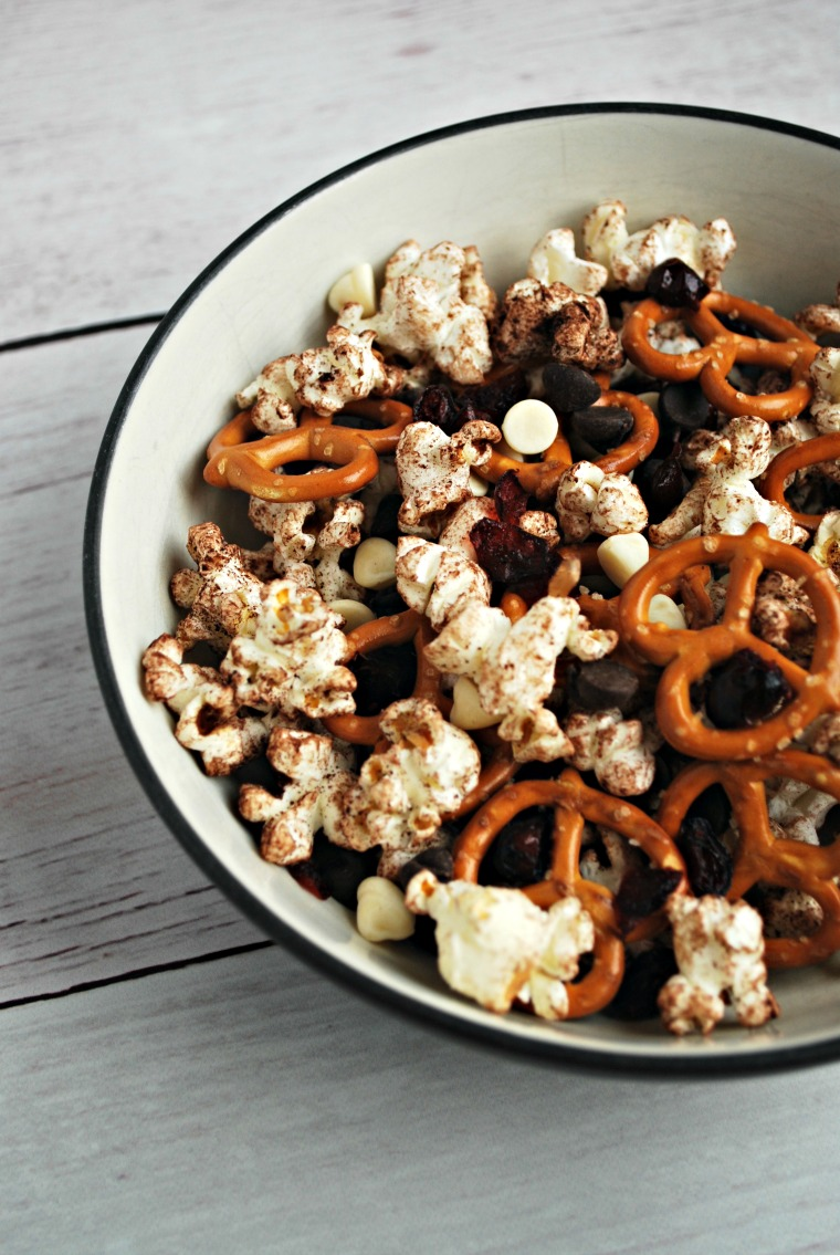Gluten Free and Nut Free Chocolate Popcorn Trail Mix