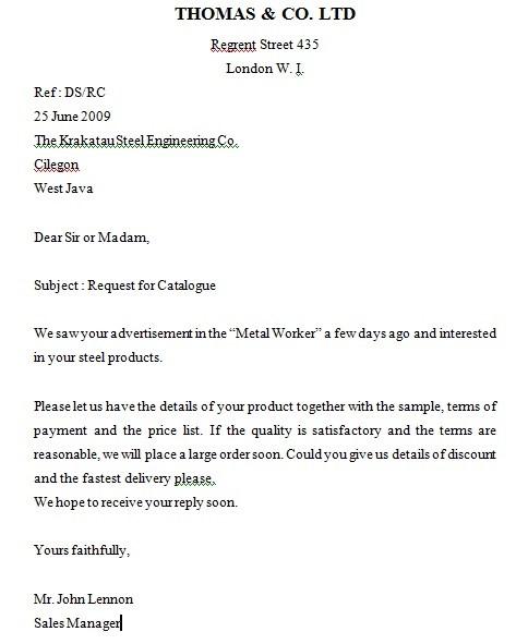 Contoh Surat Penawaran Dalam Bahasa Inggris (via: suratresmi.net