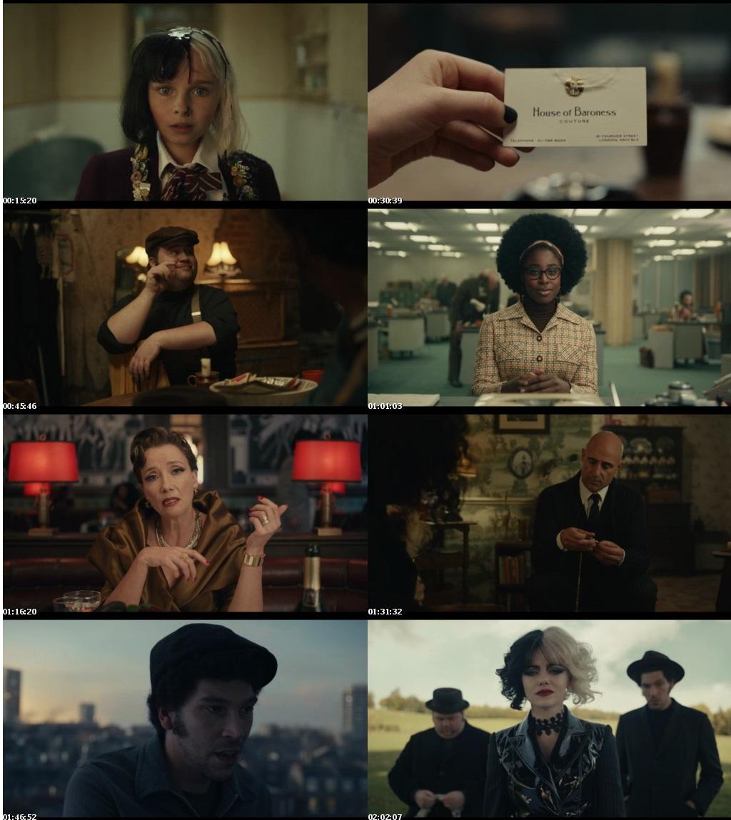 Download Cruella (2021) English 1.22GB Web-DL 720p ESub Free Watch Online Full Movie Download Worldfree4u 9xmovies
