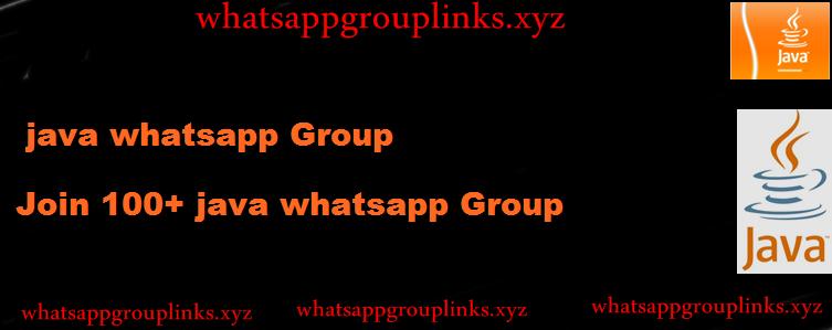 Java Programmer Whatsapp group