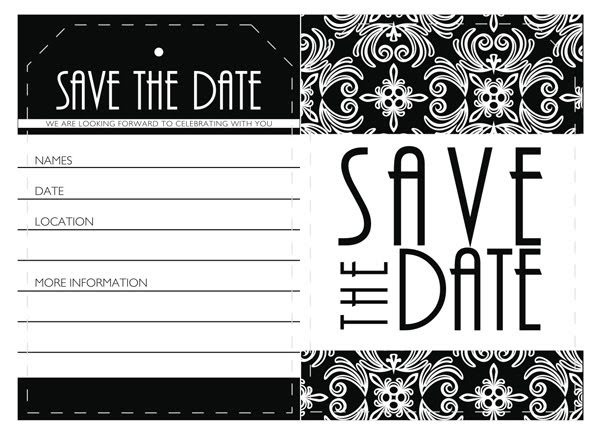 conference save the date template - blue lily event planning free downloadable save the date