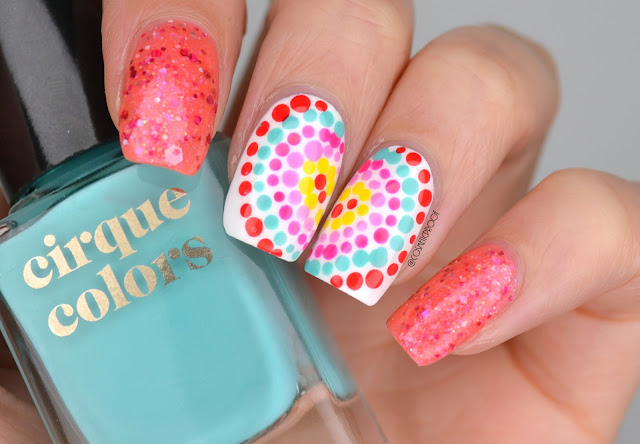 Heart Berry Dotticure Nail Art