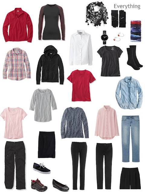 a travel capsule wardrobe for Ireland