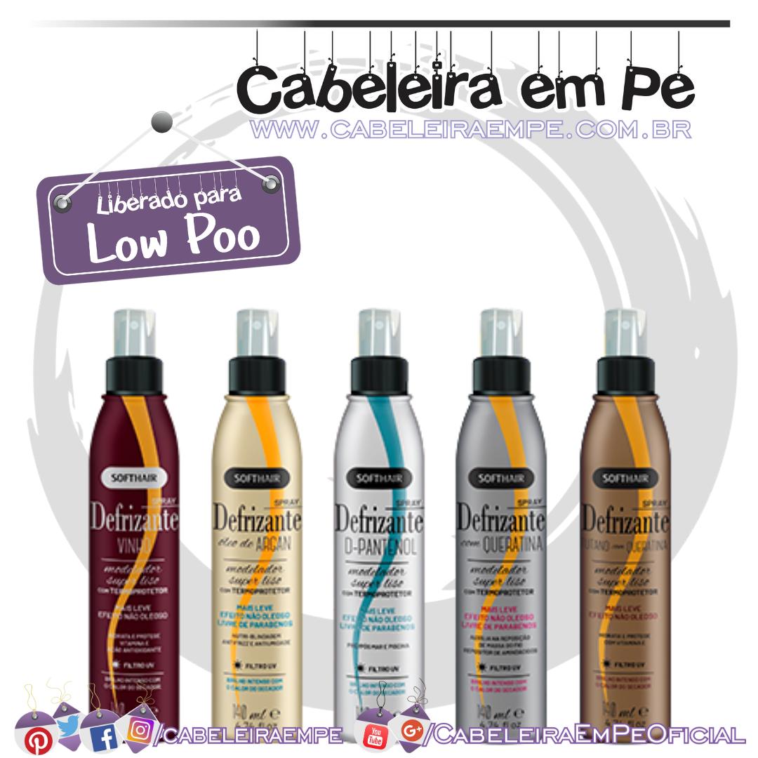 Sprays Defrizantes Soft Hair - Vinho, Tutano com Queratina, Óleo de Argan, D-Pantenol e Queratina (Low Poo)