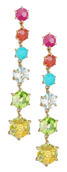 IPPOLITA Rock Candy Lemon Citrine, Blue Topaz, Peridot Earrings