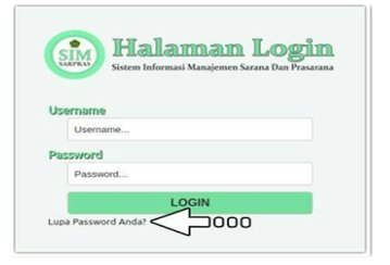 Reset Password Di Simsarpras