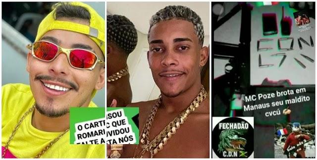 Facção CDN comemora a morte de MC e manda recado para MC Poze; Veja as mensagens!