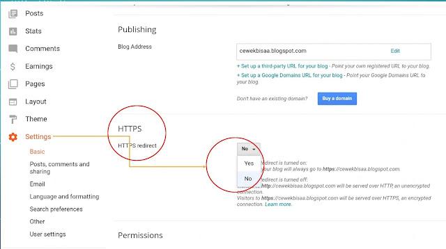 pengaturan HTTPS untuk pengamanan blogspot
