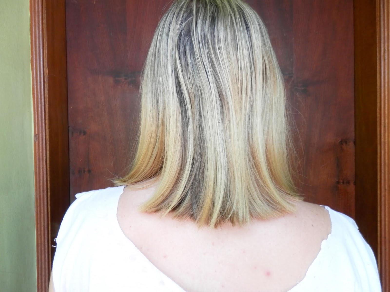 resultado cabelo com Blondme Shine Elixir da Schwarzkopf