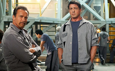 Arnold si Stallone in filmul Escape Plan