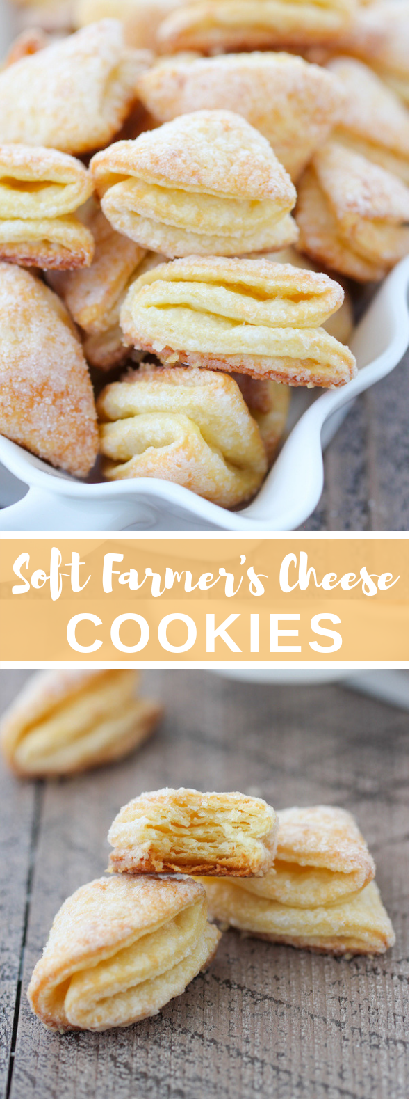 """Soft Farmer's Cheese Cookies – """"Гусиные Лапки"""" (Geese Feet) #desserts #sweets #russianfood #cookies #cheese"""