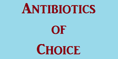antibiotics-of-choice