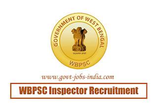 WBPSC Inspector Recruitment 2020