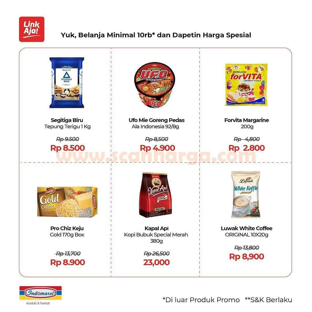 Promo Indomaret Pake LinkAja- Belanja minimal 10Rb Dapat diskon Spesial