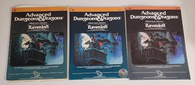 Ravenloft three different printings