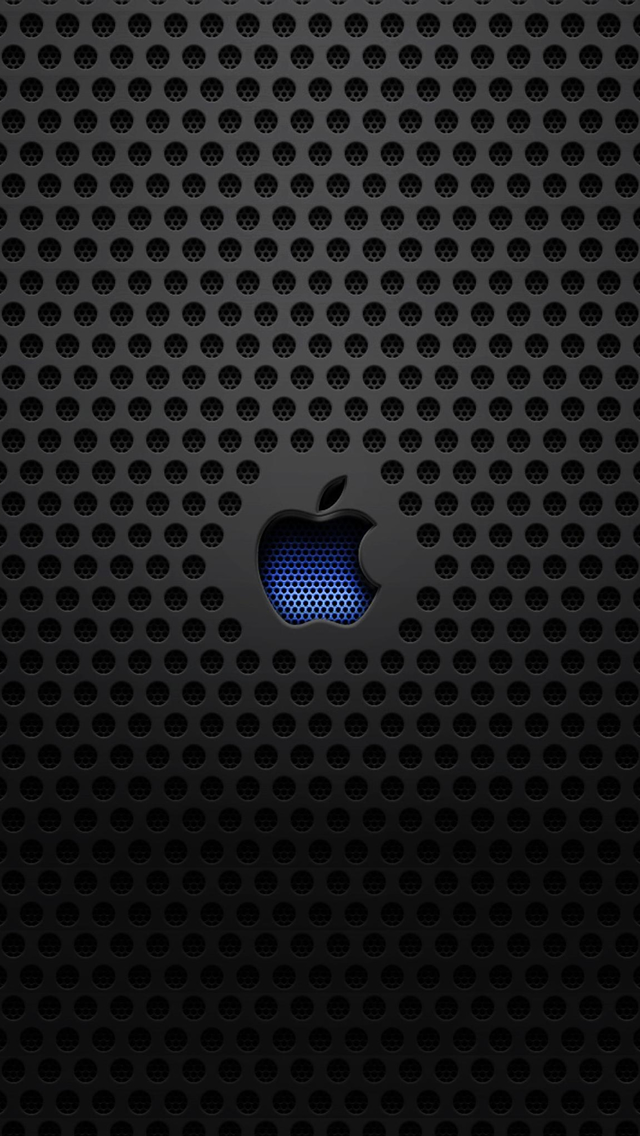 Papel de Parede para Celular Logotipo de Metal Apple