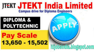 Walk  In Interview For Freshers  Diploma Mechanical, Automobile, Production Candidates Job Vacancy in JTEKT India Ltd