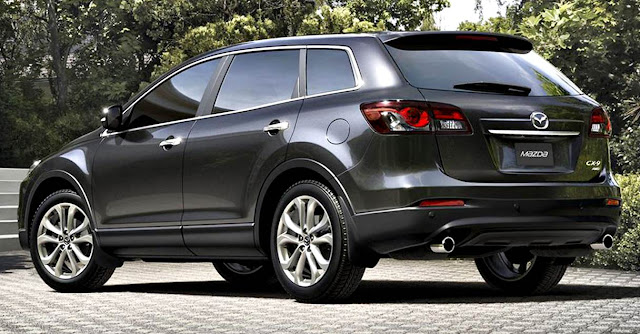 Mazda CX-9 2017 parte trasera negro