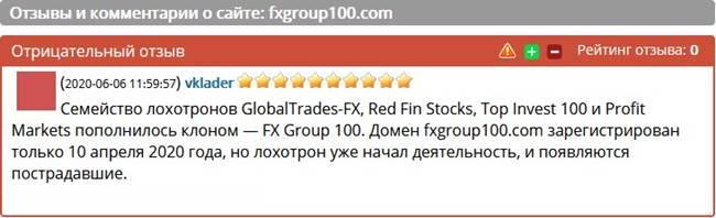FXGROUP100 – отзывы о брокере?