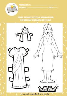Montagem do fantoche da Rainha Ester