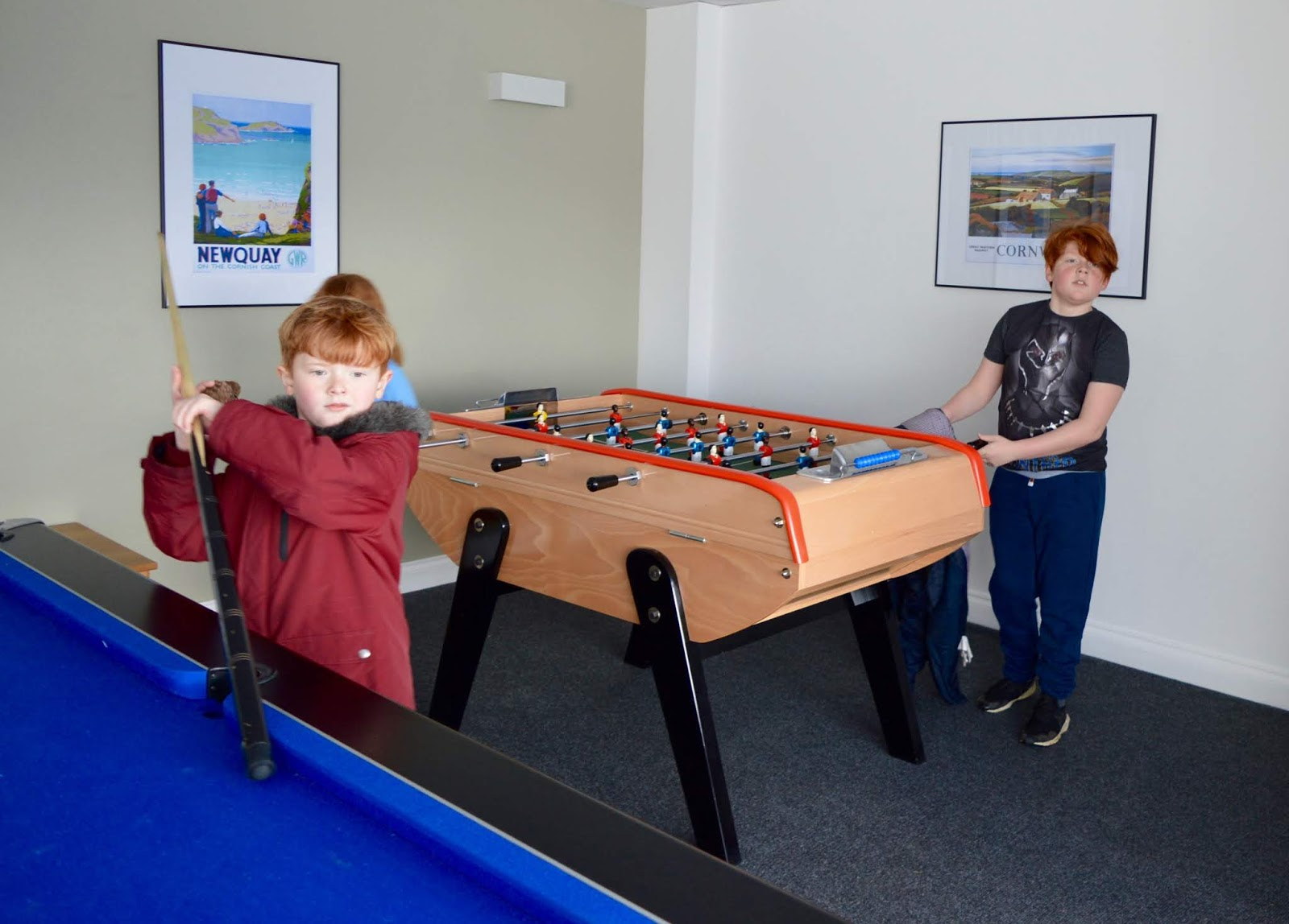 Waterside Cornwall Review | Self-Catering Lodges Near The Eden Project - indoor games room