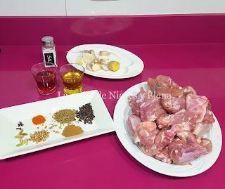Ingredientes Vindaloo de cabrito