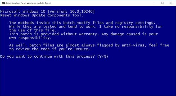 Reset Windows Update Agent Tool