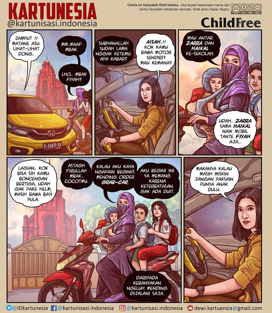 Memprotes Kartunesia yang Memojokkan Muslimah Beranak Banyak