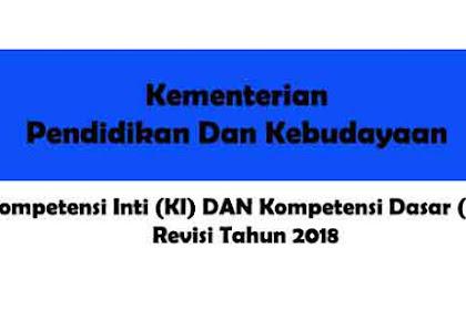 Download KI Dan KD Kurikulum 2013 SD-MI Revisi 2018