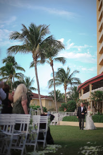 la playa naples wedding ceremony on the lawn