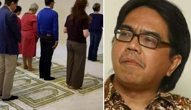 "Keblinger! Ade Armando Bangga ""Masjid"" ini Perbolehkan Pria & Wanita Bercampur dalam Satu Shaf"
