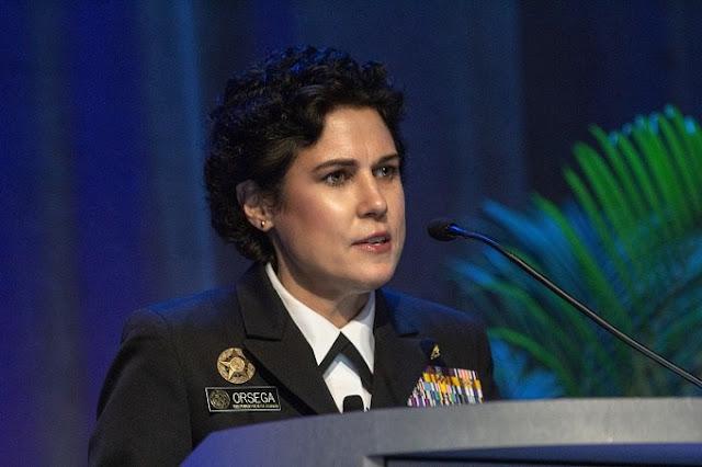 Susan Orsega giving a speech