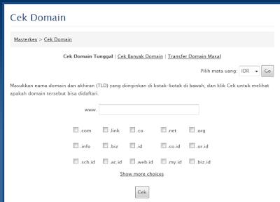 Cara Mengecek Domain Yang Masih Tersedia atau Available