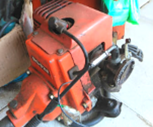 mesin potong rumput cepat panas